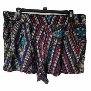 Mossimo Supply Co XL blue geometric shorts